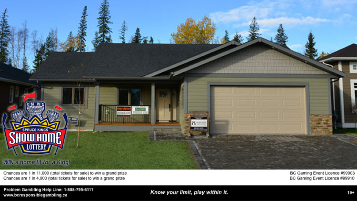 Enter to win one Spruce Kings Show Home Lottery Ticket