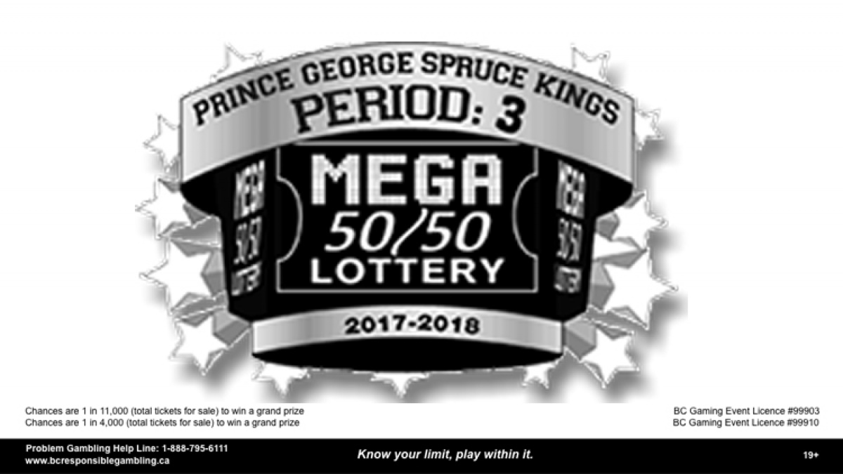 Enter  to win ONE Spruce Kings Period 3 Mega 50/50 Ticket
